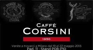 La locandina caffè Corsini per Tuttofood