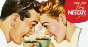 vendite Nescafé Un'immagine storica riproposta in occasione del 75° anniversario di Nescafé