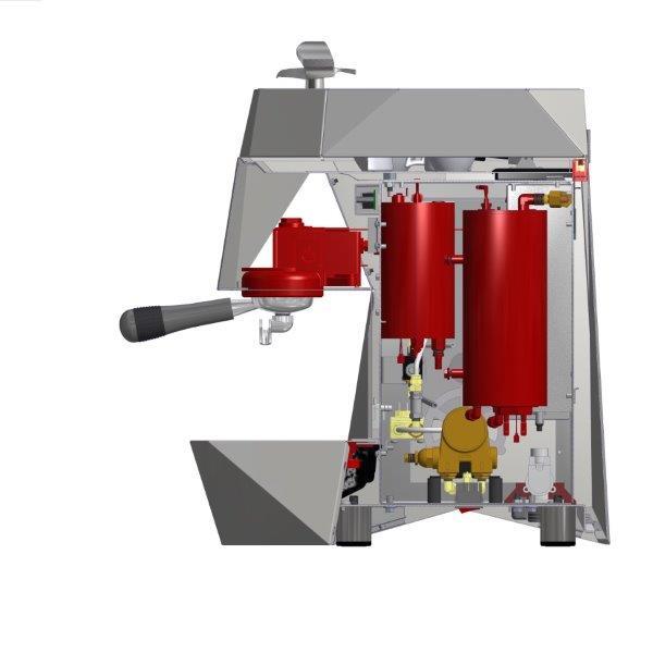Un disegno tecnico che illustra la tecnologia T3 Victiria Arduino su una macchina a un solo gruppo