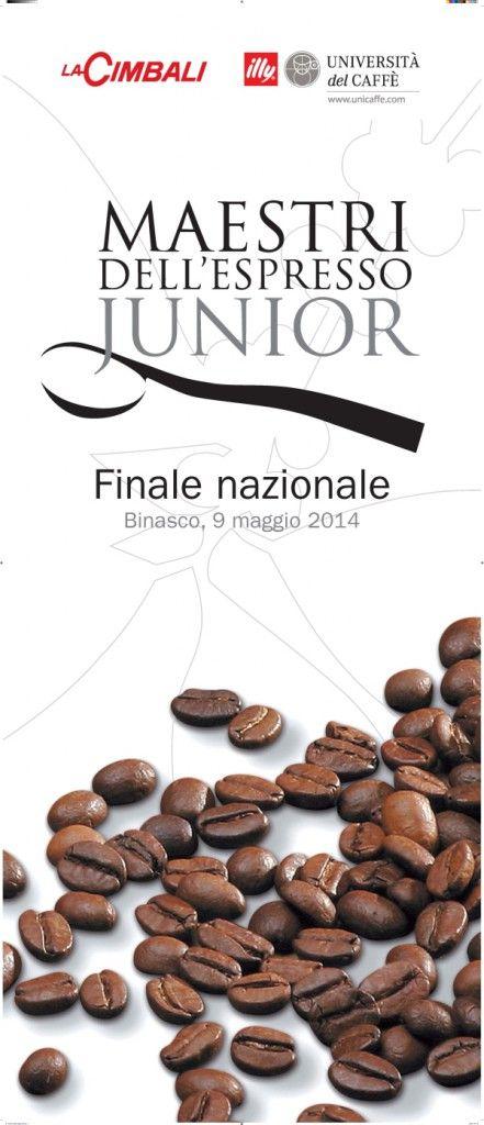 Il manifesto della finale nazionale del corcorso Maestri dell'espresso junior del 2014