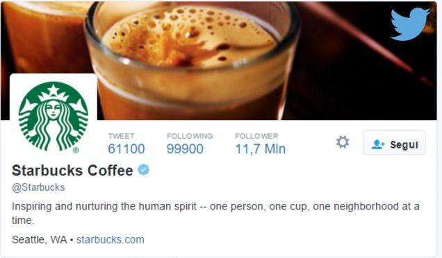 Starbucks. twitter
