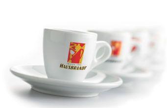 Tazzine con il logo Hausbrandt
