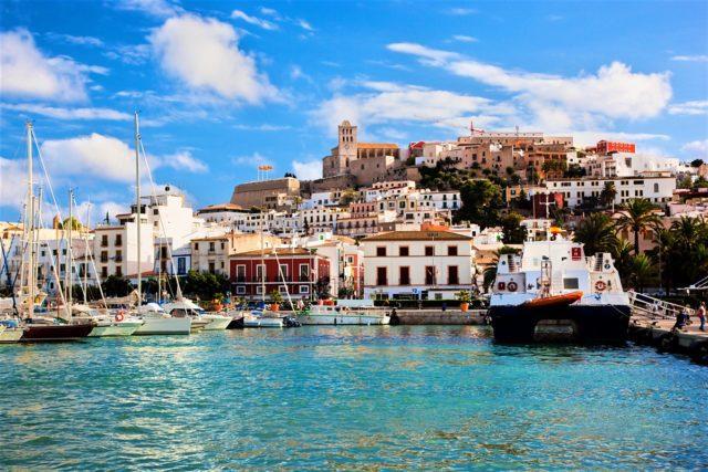 Una veduta di Ibiza