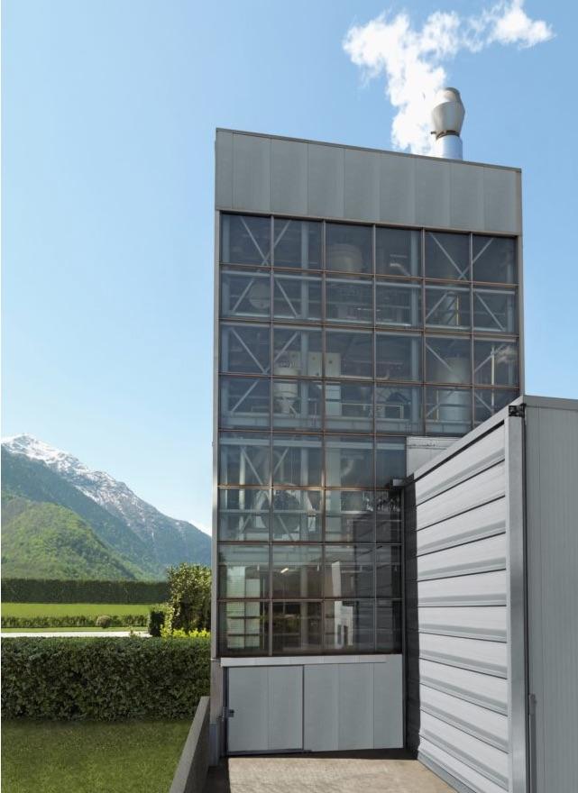 La torre dove è stata installata la torrefattrice Neuhaus Neotec