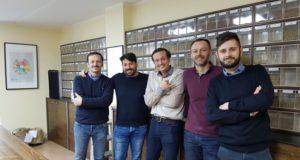 Sca Da sinistra: Mariano Semino 9 BAR, Davide Cobelli EDUCATIONAL SCA ITALY, Alberto Polojac di Bloom Coffee School, Ludovic Maillard creatore del Modulo GREEN, Andrea Bazzara della Bazzara Academy