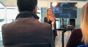 Chiara Bergonzi durante la lezione al Sigep