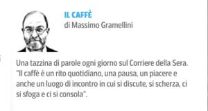 Il logo della rubrica il caffè che appare tutti i giorni sul sito www.corriere.it e riprende l'analoga rubrica pubblicata sul quotidiano cartaceo