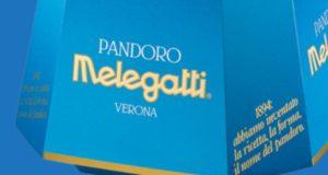 Il logo Melegatti su uno dei prodotti classici del marchio veronese: il Pandoro