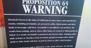Proposition 65 warning