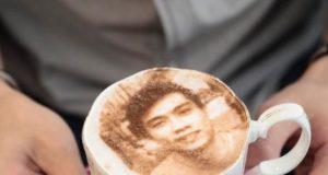 selfie cappuccino