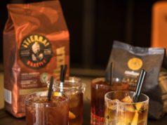 I quattro coffeetail preparati da Fabio Sipione specialista del Training center Lavazza