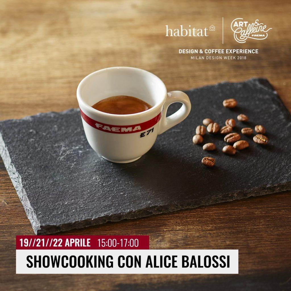 Art & Caffeine 2018 presentazione showcooking con Alice Balossi