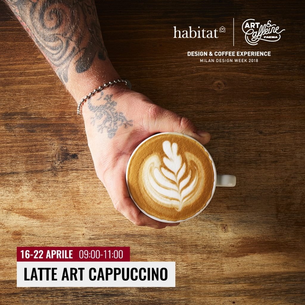 Art & Caffeine 2018 presentazione latte art cappuccino