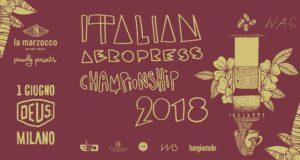 Il manifesto del campionato italiano Aeropress 2018
