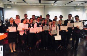 I concorrenti dell'edizione 2018 di Maestri dell'Espresso junior al termine della gara: tutti sorridenti