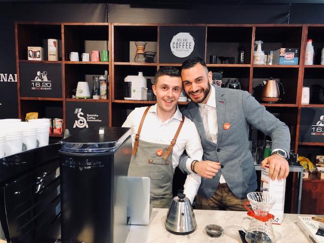 Due campioni italiani insieme nell'area educational della Sca: Davide Caglieri e Francesco Masciullo