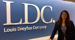 Il logo nella sede di Londra della Louis Dreyfus Company