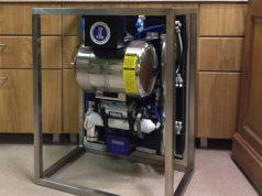 L'impianto di osmosi inversa della Pentair che sarà usato per i campionati del mondo di caffetteria di Amsterdam