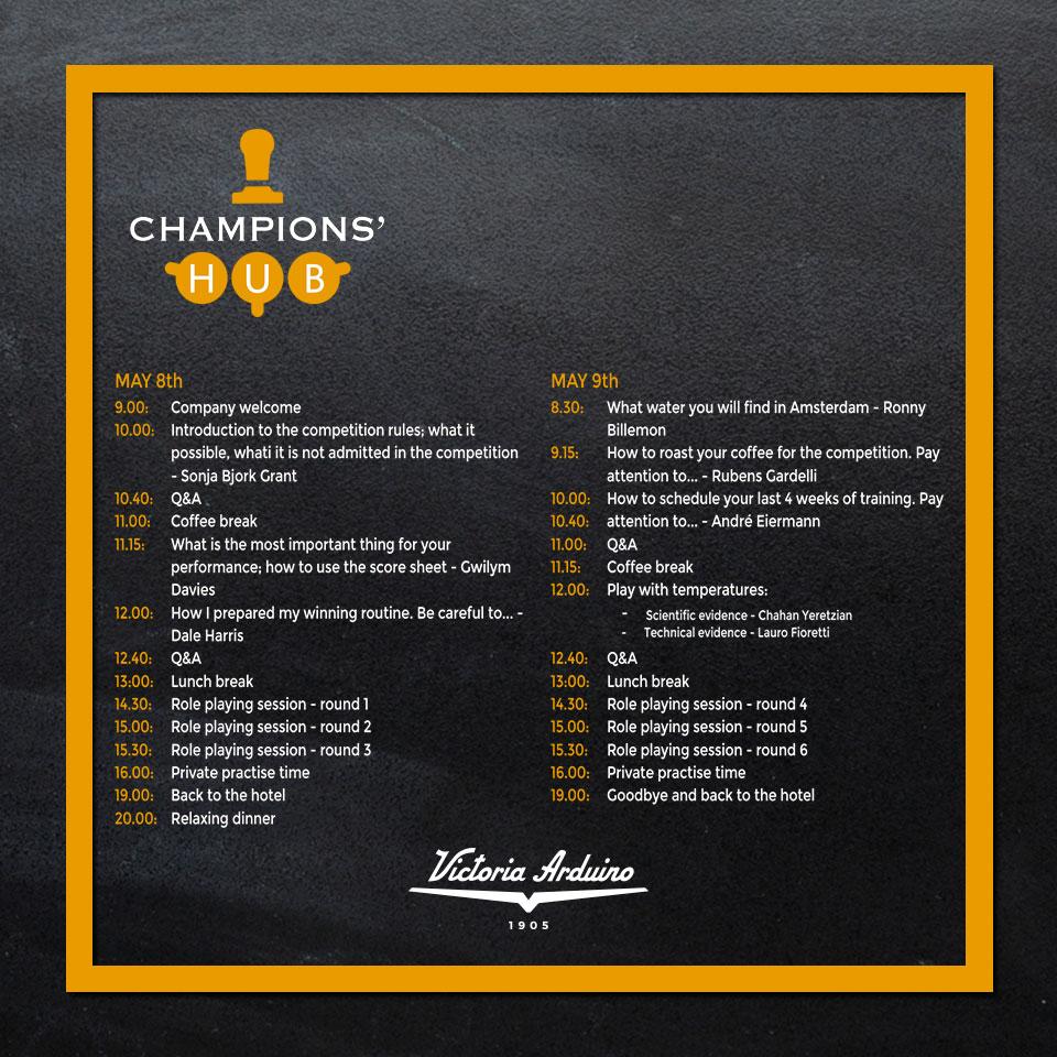 L'agenda di champions hub