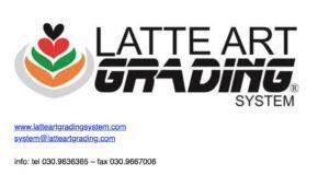 Latte art grading system, logo