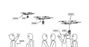 Contrassegnati dai numeri alcune dei brevetti legati ai droni Imb in un'immagine ripresa da Comunicaffè International che pubblica un ampio servizio sull'argomento