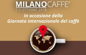 La locandina di MilanoCaffè-MilanCoffee 2018 in formato orizzontale