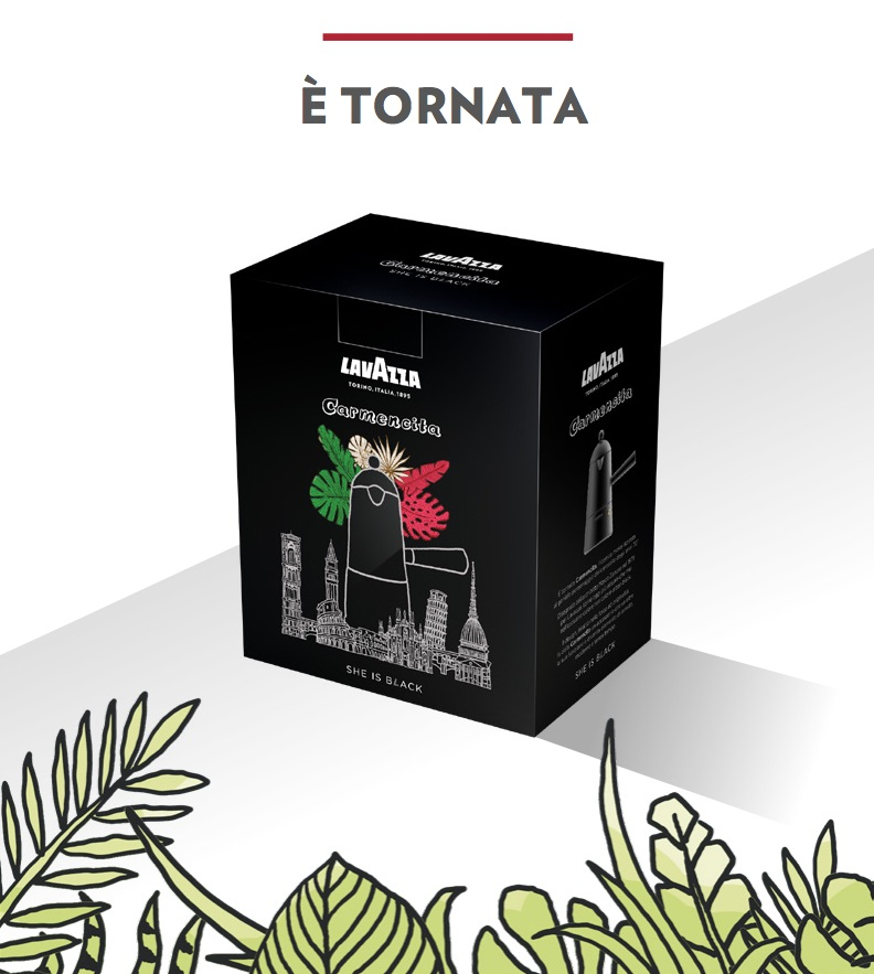 Packaging Carmencita lavazza