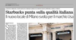 La pagina intera che La Stampa, il quotidiano di Torino, ha dedicato a Starbucks e al bar italiano