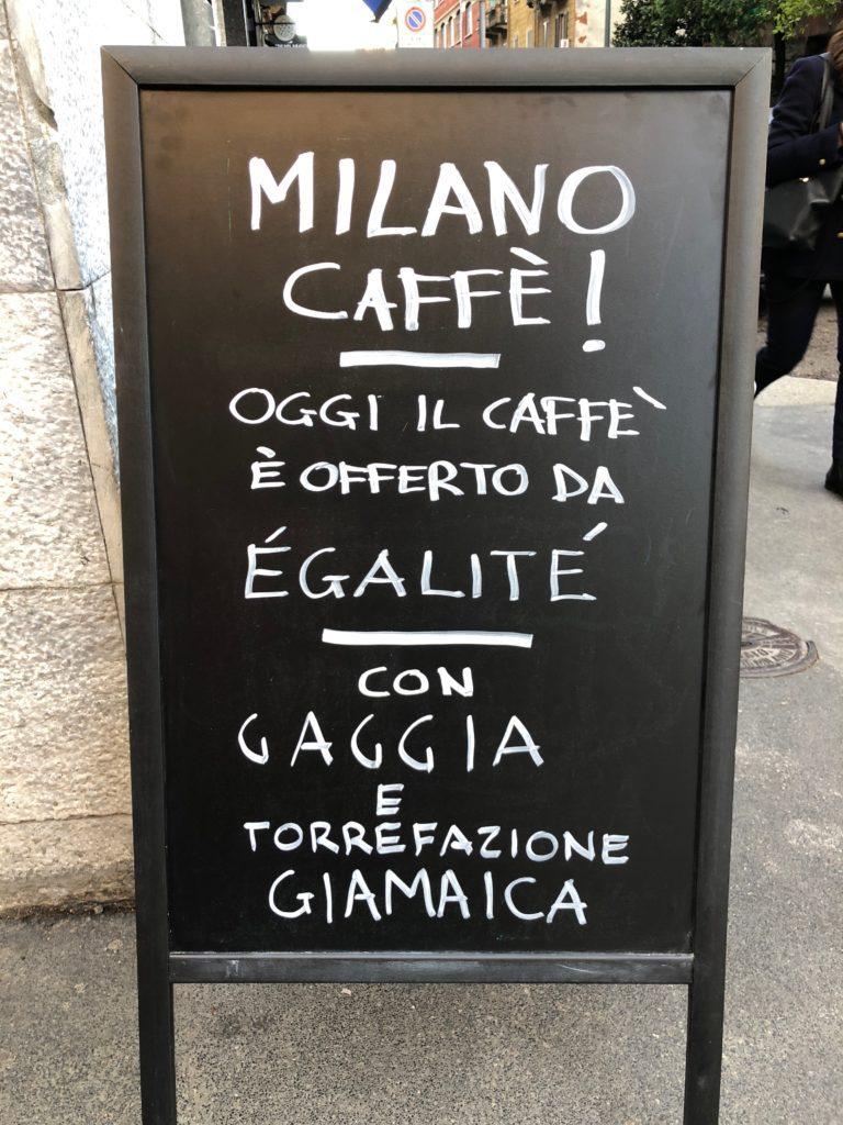Gaggia ha portato MilanoCaffè al Bar Egalité di Via Melzo a Milano