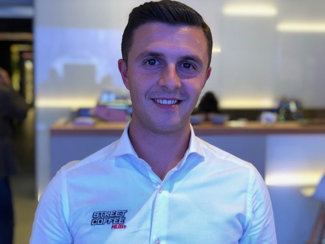 Il campione italiano caffetteria 2018 Davide Cavaglieri