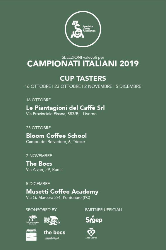 Locandina Cup tasters