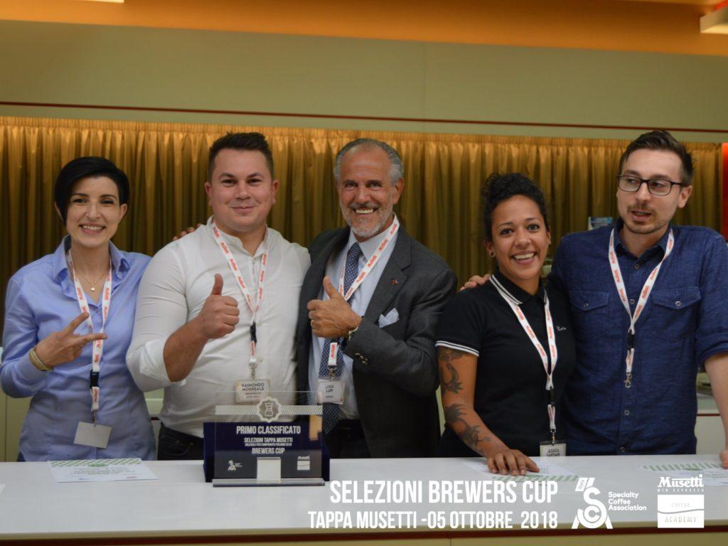 Raimondo Morreale e gli altri qualificati per la brewers Cup