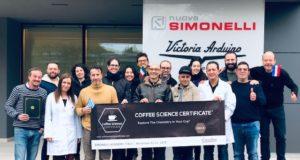 I protagonisti del corso Coffee Science Certificate CSC-2 ospitato dal Simonelli Group