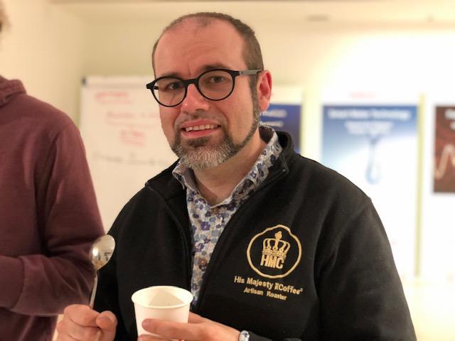 Paolo Scimone della Toirrefazione His Majesty Coffee di Villasanta e istruttore Sca