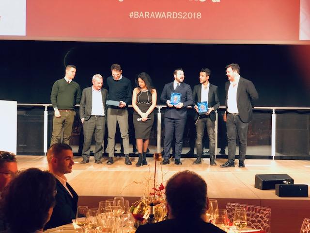 Il podio e la premiazione per il miglior bar pasticceria gelateria dell'anno