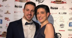 La Barista dell'anno Elisa Urdich con il marito Fabio Tiralongo: i due specialisti, che hanno un figlio, fanno coppia nella vita e sul lavoro