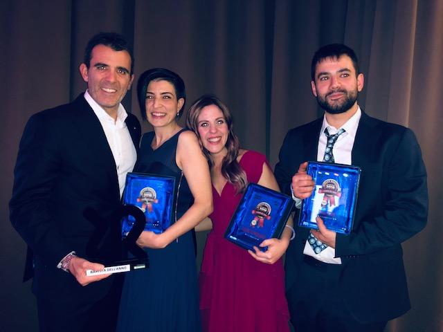 Il podio del barista più bravo dell'anno con Andrea Mascetti della Rancilio