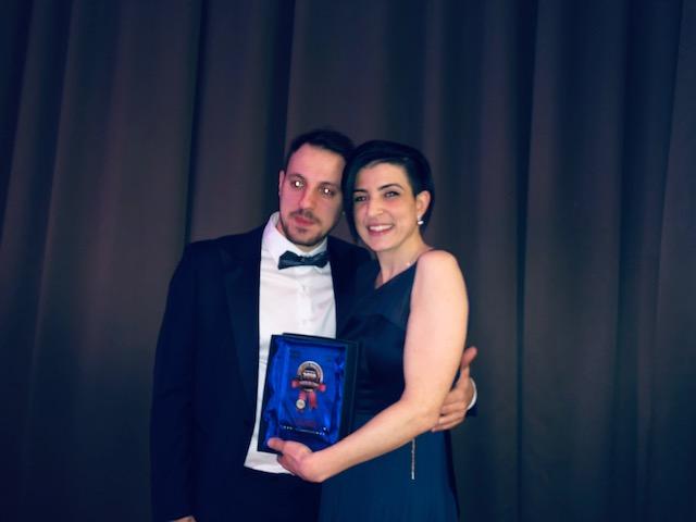 La barista più brava dell'anno: Elisa Urdich con il marito e copatron Fabio Tiralongo
