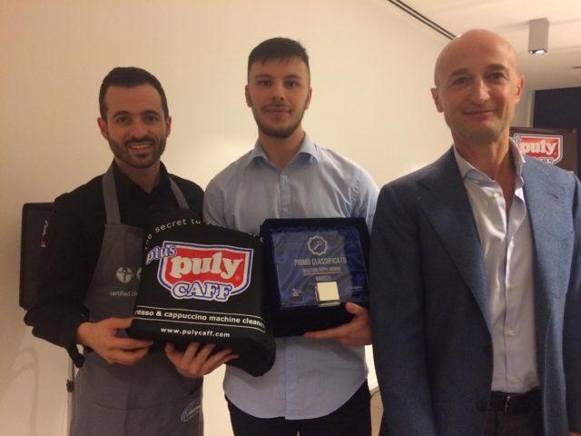 Matteo Pavoni, vincitore della tappa padovana presso la Diemme Academy per la disciplina Barista