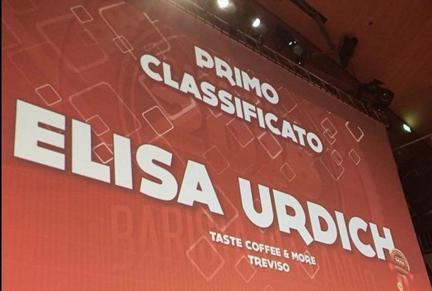L'annuncio della vittoria di Elisa Urdich ai Barawards 2018