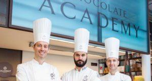 I docenti residenti della Chocolate Academy: Ciro Fraddanno, Davide Comaschi e Alberto Simionato
