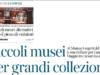 La testata della pagina con l'articolo sul Mumac e i musei più curiosi di Milano