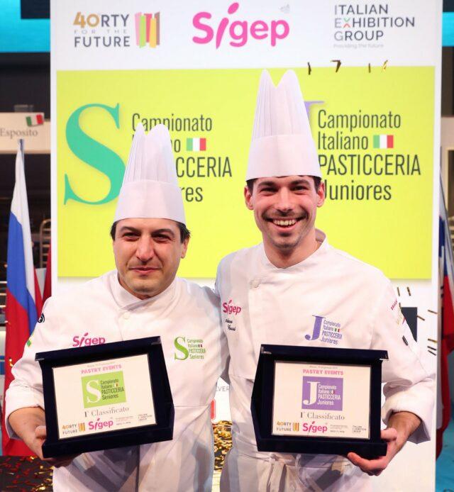 I nuovi Campioni Italiani di Pasticceria: Alessandro Bertuzzi (Seniores) e Andrea Buosi (Juniores)