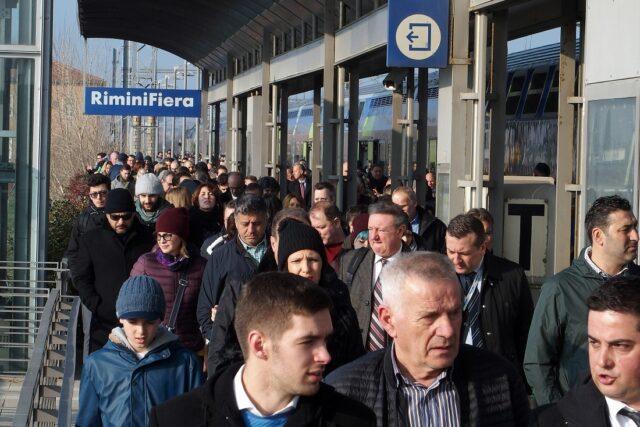Sigep L'arrivo in stazione di Rimini Fiera per il Sigep 2018