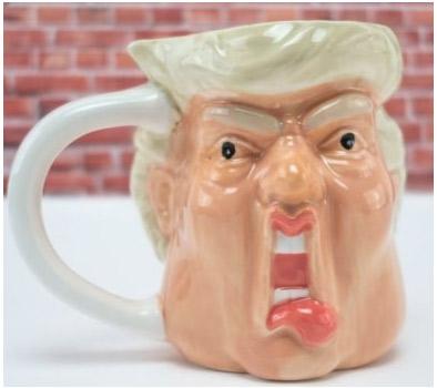 Tazze assurde: Donald Trumpp in ceramica