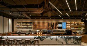 Uno scorcio dello Starbucks Reserve Bakery Café di Shanghai