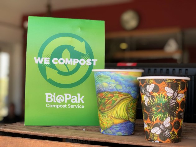 Le tazze compostabili di Biopak