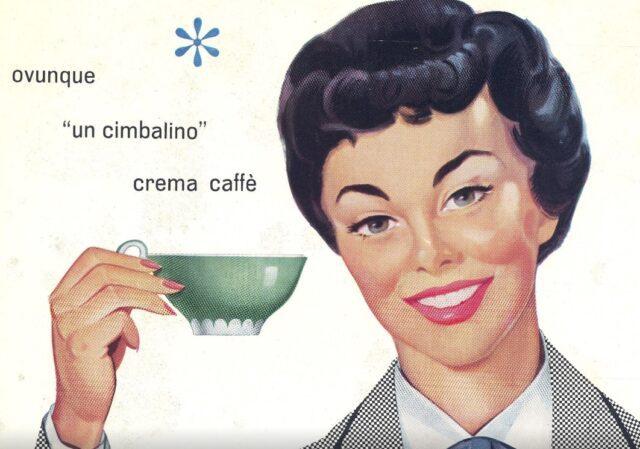 Una bella immagine pubblicitaria del Cimbalino proposta nella mostra