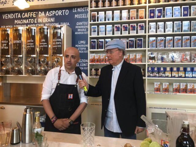 pollice verde sardella Gianni Cocco intervistato da Luca Sardella negli spazi del Museo del caffè Dersut