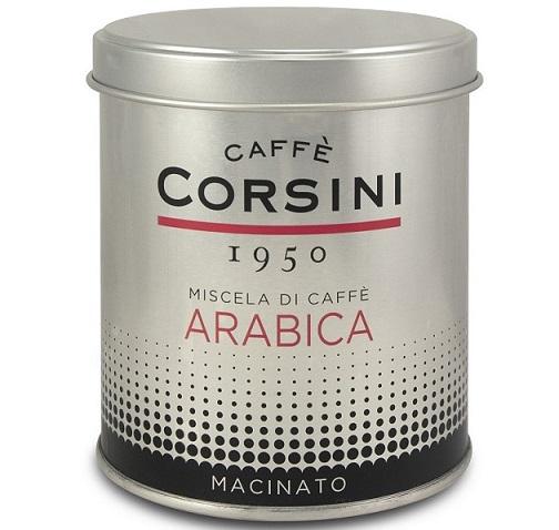 La nuova latta di Caffè Corsini da 125 grammi